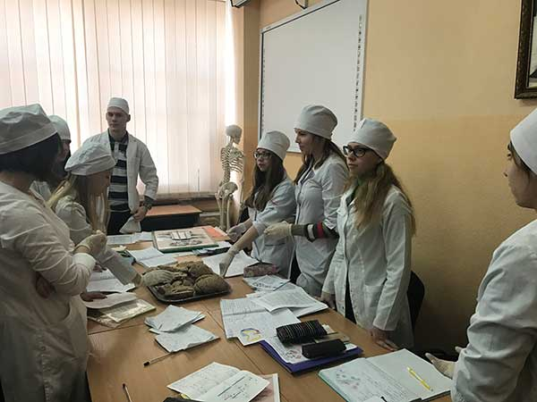 Bogomolets Kiev National Medical University Students in Practical Room