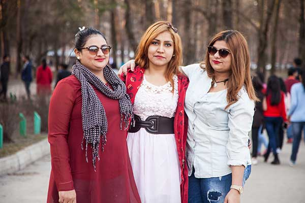 Study MBBS in Ukraine - Female Students in Park