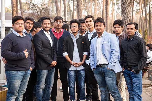 Bogomolets National Medical University Students in Park with Sandeep Singh